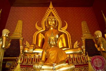 buddha statue, golden buddha image, Pathumthani, Thailand
