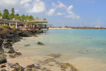 Beach Puent-du-But. Pointe du Bout, Martinique