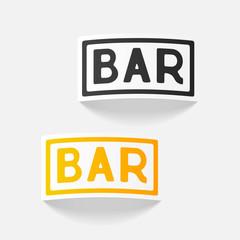 realistic design element: bar