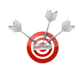 organic product target illustration design