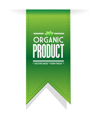 organic product banner sign illustration design