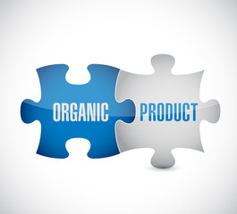organic product puzzle pieces illustration design