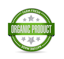 organic product seal illustration design