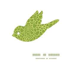 Vector abstract green natural texture bird silhouette pattern
