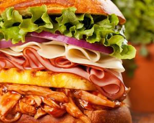 Big Hawaiian Chicken Sandwich Closeup