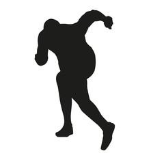 Sprinter start vector silhouette