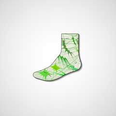 Abstract illustration on sock