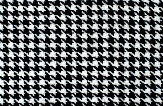 Black and white houndstooth pattern. Dogstooth check design.