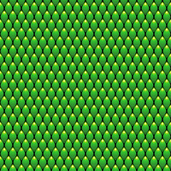 Green Scales Seamless Pattern Texture. Stock Vector Illustration