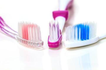 Close up tooth brush