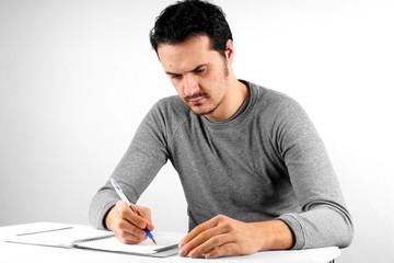 Man with pen