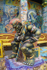 Sculpture of giant goddess