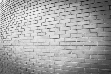 perspective white brick wall texture