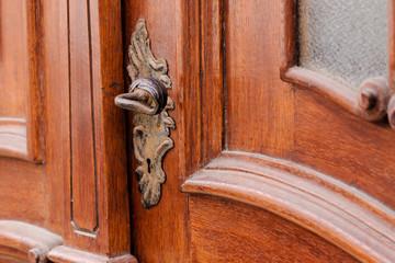 A nice brown wood door