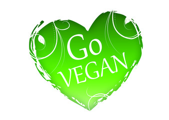 Go Vegan - Heart