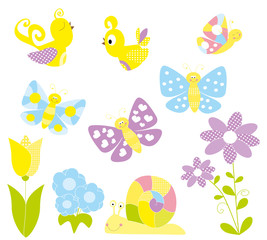 Set of spring element- vectors for children