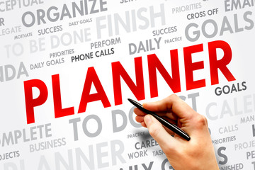 PLANNER word cloud, business concept