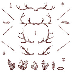 Illustrated design elements set.