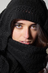 Lady with black scarf