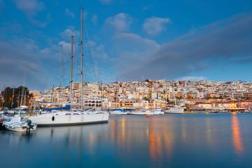 Dawn in Mikrolimano marina in Athens, Greece.