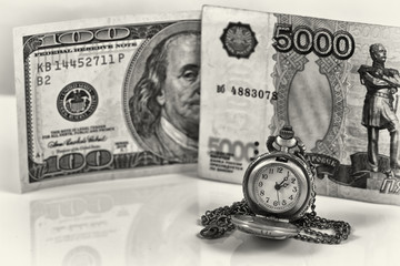 weakening of the ruble exchange rate to the dollar