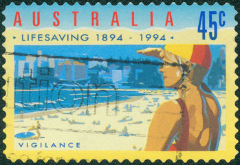 stamp printed in Australia shows Vigilance
