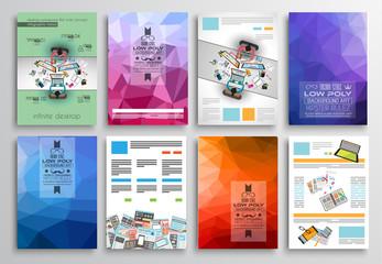 Set of Flyer Design, Web Templates. Brochure Designs, Technology