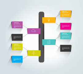 Flowchart tab. Infographic element.
