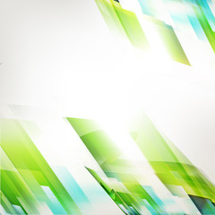 Abstract technology fresh green diagonal background