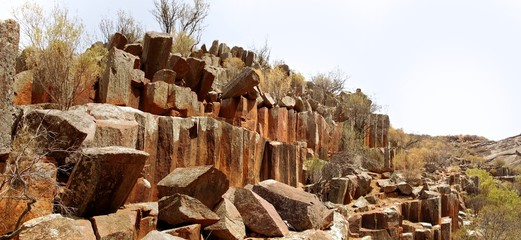 Organ pipes rock formations