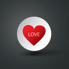 Heart Design - Happy Valentine's Day Card or Icon
