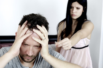 Man desperate about woman breaking up