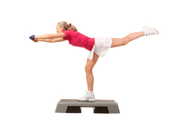 Sport Series: Step Aerobics with Dumbbells