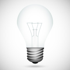 Realistic incandescent lamp isolated on a gray background