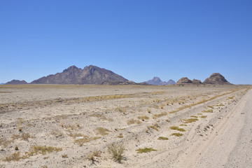 On the way to Spitzkoppe, Erongo, Namibia, Africa