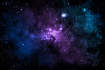 Farbiger Nebel in Sternenhimmel