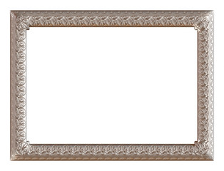 antique silver frame isolated on white background