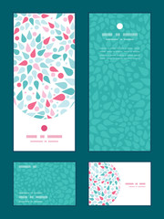Vector abstract colorful drops vertical frame pattern invitation