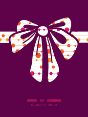 Vector abstract colorful stripes and shapes gift bow silhouette
