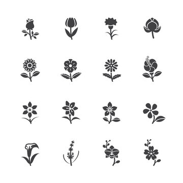 Flower Icons for Pattern