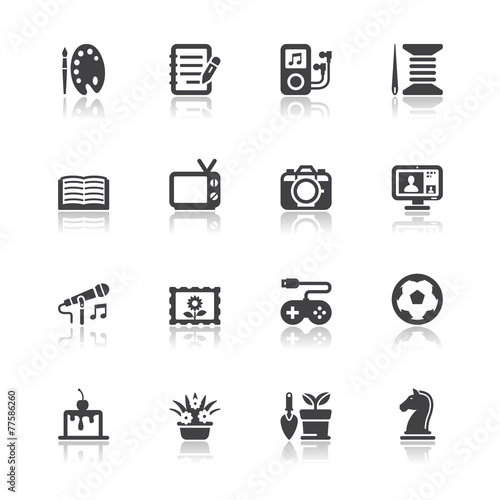 u0026quot hobbies icons u0026quot  stock image and royalty