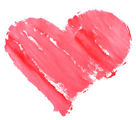 Love heart paint watercolour