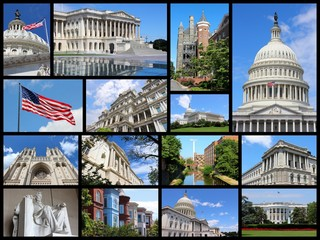 Washington DC. Photo collage.