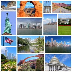 United States. Photo collage.