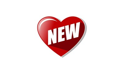 Discount Label Heart New