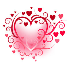 Herz aus Herzen Vektor
