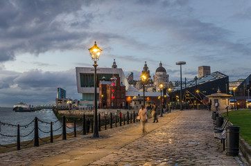 Cobbled Riverside Path in Liverpool