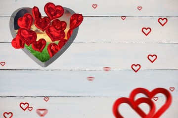 Wall Mural - Composite image of hearts