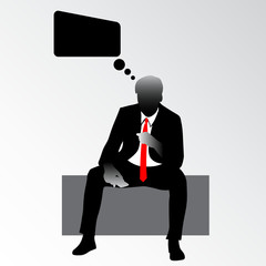 man in suit vector illustration