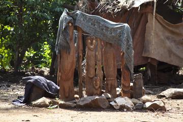 Waga, a traditional memorial statue of Ethiopia.